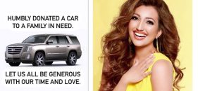 Miss World America WA Shree Saini donated her Cadillac Escalade car to children in need through Wheels for Wishes & Wellness
